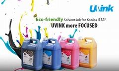 UVINK hot selling U-eco solvent ink for Konica 512i 30pl print head