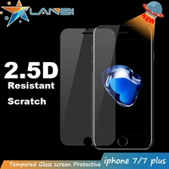 2016 Lanbi new tempered glass screen protector for iphone 7 0.33mm 0.26mm 9H