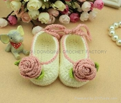 Crochet Knitting Baby Shoes