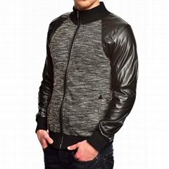 TUSK- Sweatjacke Leather patch jacket T-202