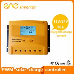 30A 12V/24V PWM Solar Charger Controller Intelligent Solar Controller