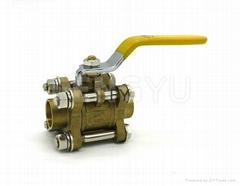 3 piece brass ball valve