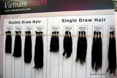 Remy human hair natural color