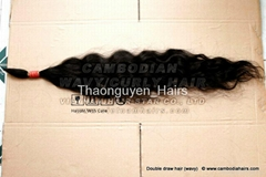 Curly Natural Cambodian hair