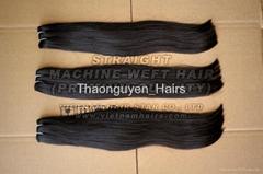 Machine Weft remy natural Vietnamese hair