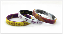 Basketball kobe retired souvenir double color wristbands movement of silicone br