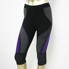 Seamless women's sporting tights pants sportswear for body shaper
