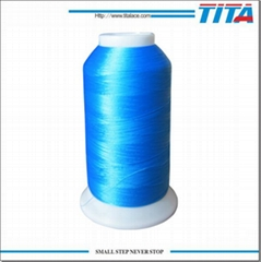 100% High Tenacity Polyster Embroidery Thread Over 500 Colors