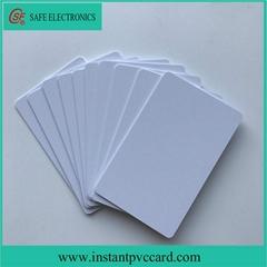 Dual sides printable 125KHz RFID instant PVC card
