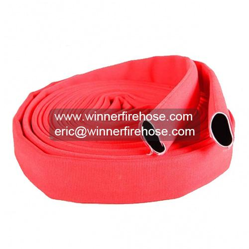 Extra Sturdy Abrasion Resistant Red Double Jacket Fire Hose 1