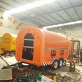 Orange mobile food trailer dual axles fast food cart for Orange mobel