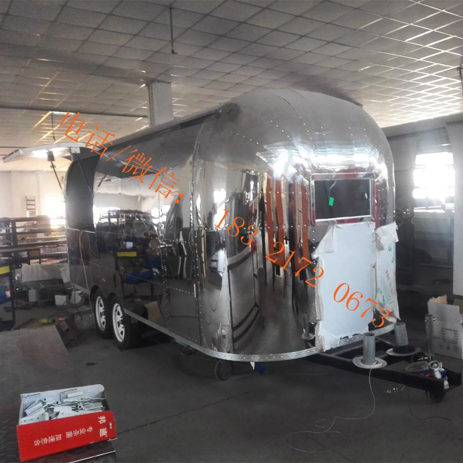 stainless steel flat grill mobile food trailer open fryer fast food truck  5