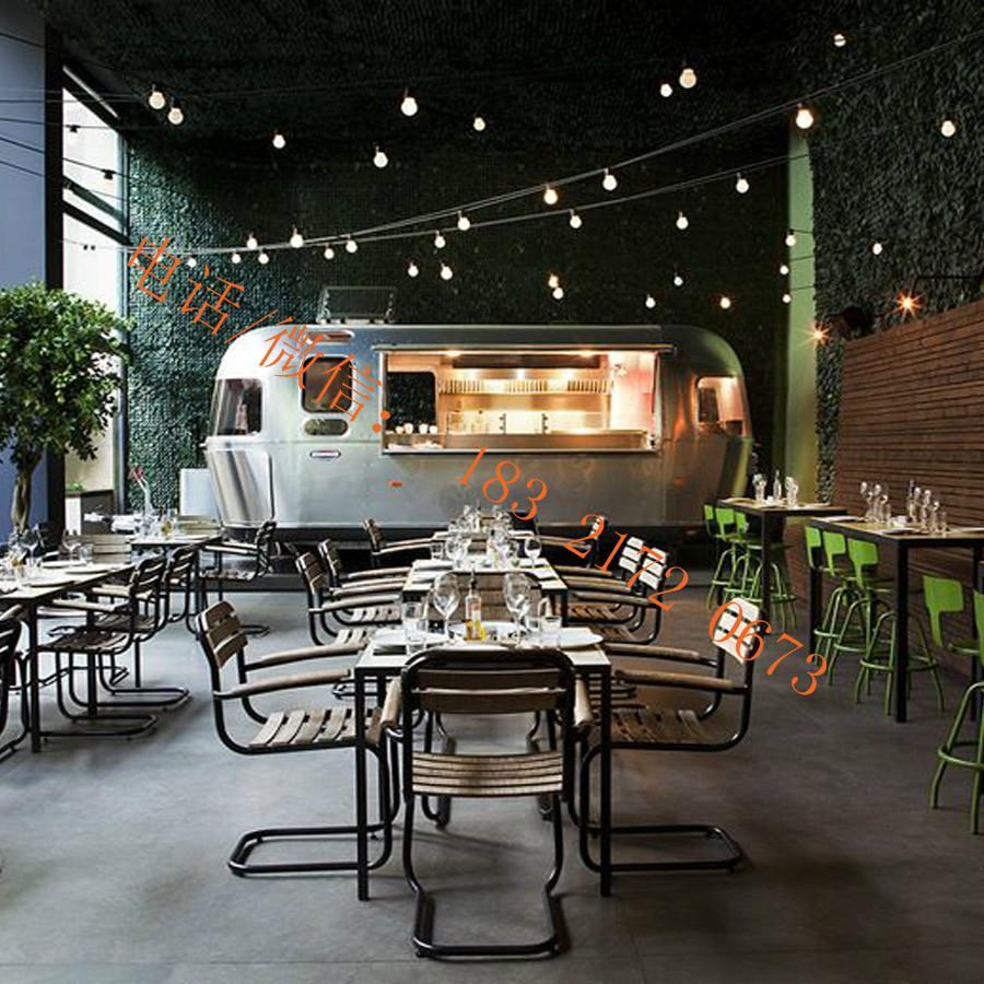 stainless steel flat grill mobile food trailer open fryer fast food truck