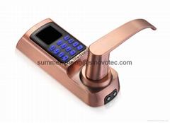 Access control system alarm passcode fingerprint reader entry door handel locks