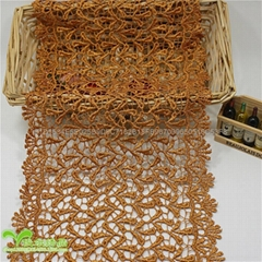 17cm Width Factory Stock Waterdrop Embroidery Water Soluable Lace
