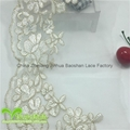 17cm Width Stock Triangle  Embroidery Gold Thread Solid  Lace 2