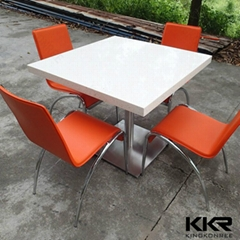 KKR solid surface stone dining table and chair