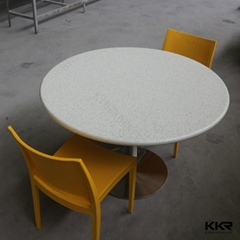 Small round pure white cheap dining table