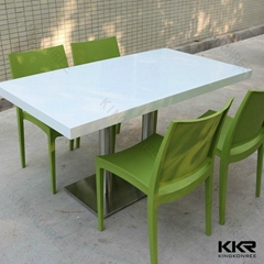 4 seater solid surface cheap dining table