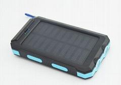 太阳能防水通用型旅游便携移动电源手机充电器充电宝