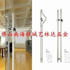 厂家生产大门拉手、玻璃门不锈钢带锁大拉手
