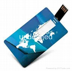Customized credit card USB flash drive for business gift