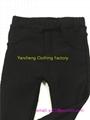 children polar fleece fur lining leggings kids winter cargo pants