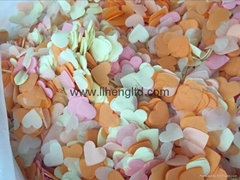Heart Shaped Tissue Paper Confetti for Wedding