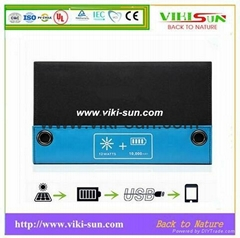 12W 5V portable solar charger with high efficiency