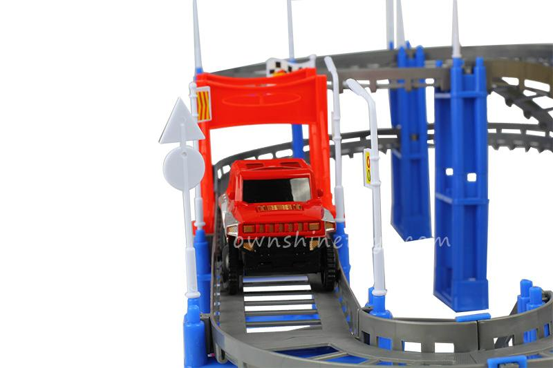 plastic electric diy race track railway toy 4