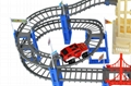 plastic electric diy race track railway toy 5
