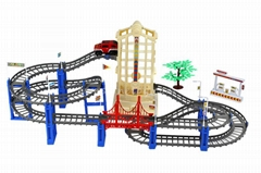 plastic electric diy race track railway toy