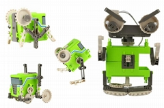 intelligent diy assembly 4 in 1 robot toy