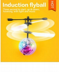 remote control inductive flying ball toy with light and music