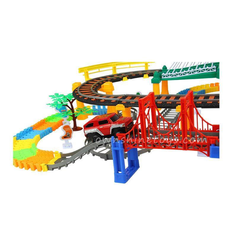 diy thomas train set race railroad toy 4