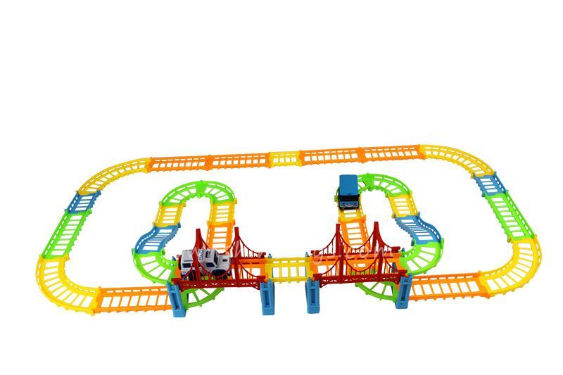 model train building block slot car toy 4