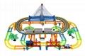 model train building block slot car toy 1