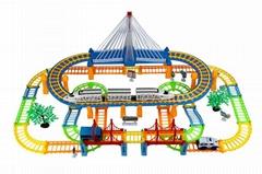 model train building block slot car toy