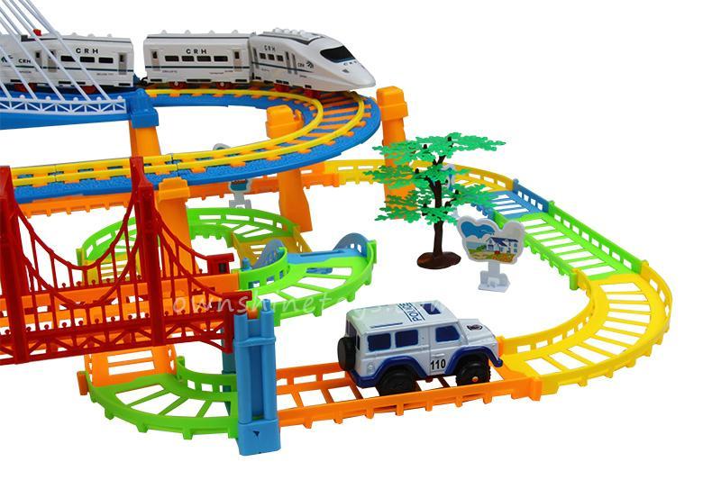 model train building block slot car toy 2