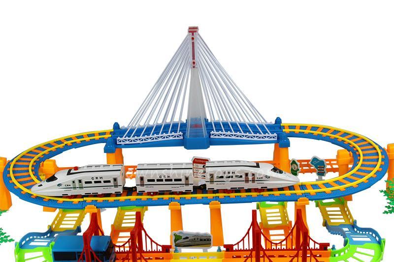 model train building block slot car toy 5