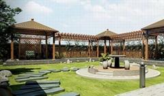 Four corner pavilions, six corner Pavilion, octagonal pavilion