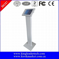 Metal Floor Stand Ipad Holder Kiosk