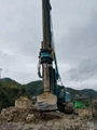 Core barrel with conical bits used deep foundation drilling