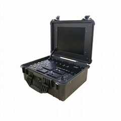 four-channel briefcase diversity receiver embedded DVR & LCD display