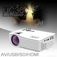 UNIC UC36 LED Portable Home theater projector