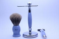 Amis 3 Piece Shaving Set TAOS007 Shaving Brush Razor Stand