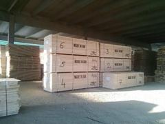 white wood rough sawn timber (spruce -
