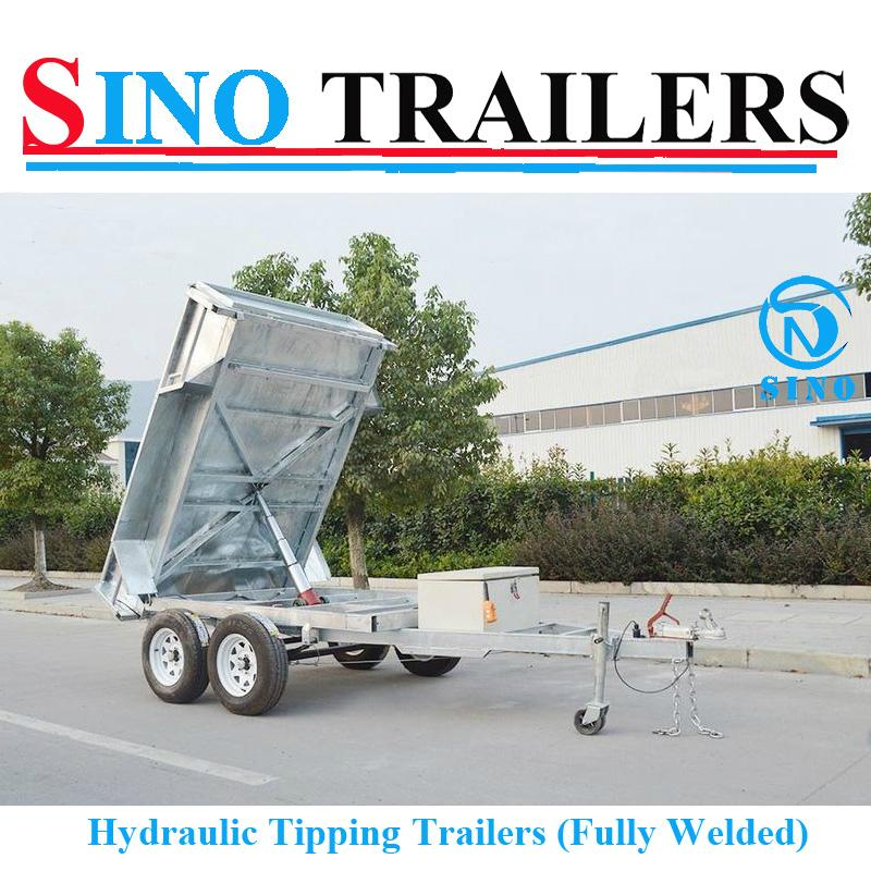 Fully Welded Hydraulic Tipping Tandem Box Trailer 1