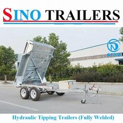Fully Welded Hydraulic Tipping Tandem Box Trailer