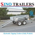 Fully Welded Hydraulic Tipping Tandem Box Trailer 3